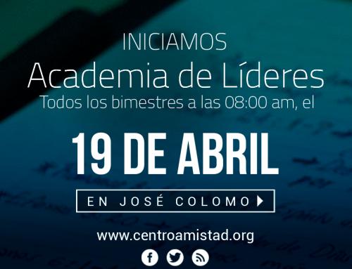 Academia de Lideres – Este 19 de Abril